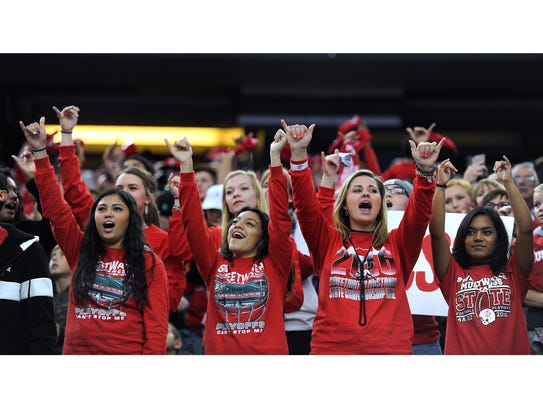 Sweetwater fans cheer during the first quarter of Sweetwater's
