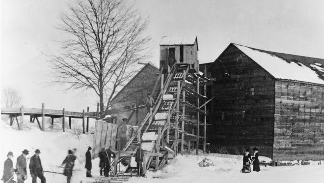 The Zachary Sturgeon Icehouse on North Memorial Drive, circa 1890.
