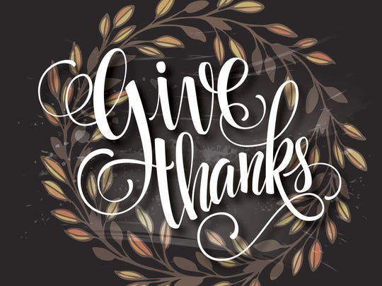 Thanksgiving is the holiday of giving thanks.