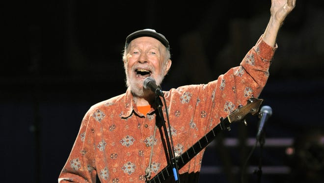 Music legend Pete Seeger performed during a concert marking his 90th birthday at Madison Square Garden on May 3, 2009.
