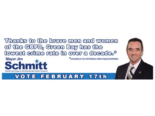 Mayor Schmitt responded to the police union by changing his own ad on the same billboard.