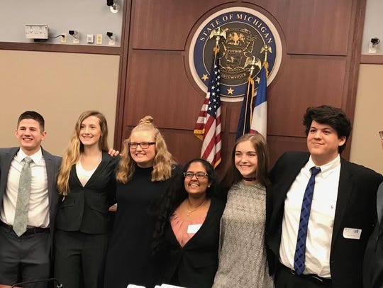 The St. Clair High School Mock Trial team was fifth