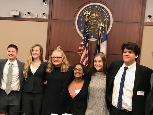 The St. Clair High School Mock Trial team was fifth at the state finals.