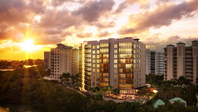 Designed by Bob Hall, of Curts Gaines Hall Jones Architects in Tampa, London Bay Homes' Grandview at Bay Beach high rise in South Fort Myers Beach will feature a clean and streamlined island contemporary architectural style.