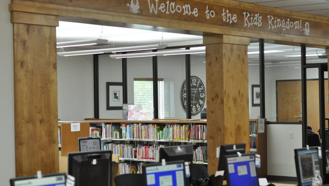 The J.L. Robertson Branch Library expansion includes the space that makes up the kid's area.