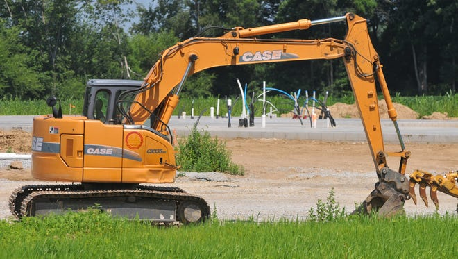 Construction has begun on the Recovery Works addiction treatment facility along Indiana 1 north west of the interchange with Interstate 70.