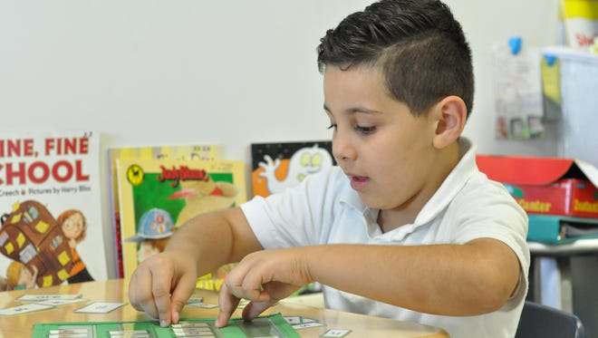 Nader Daramna, a Cherokee Elementary student, in the school's English Language Acquisition class.