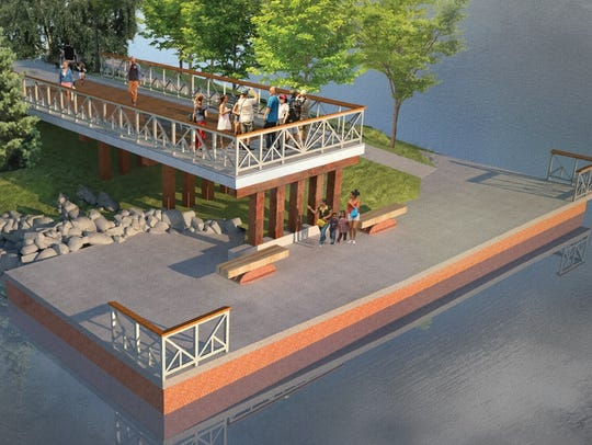 A new overlook on the western shore of the Genesee