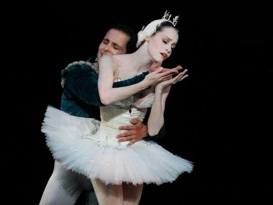 "Ballet Arizona's Natalia Magnicaballi in ""Swan Lake."""
