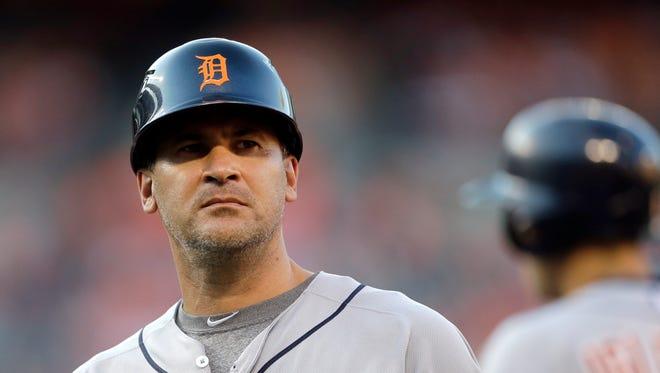 Detroit Tigers first base coach Omar Vizquel.