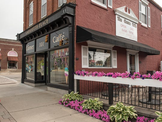 The Corner Caffe is on the corner of South Lafayette and Ten Mile Road in downtown South Lyon.