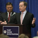AttorneyGeneral Bill Schuette announces criminal charges against six state employees relating to the Flint water crisis on Friday July 29, 2016.