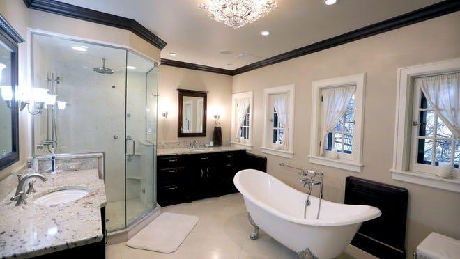 This master bathroom has a radiant heated floor.