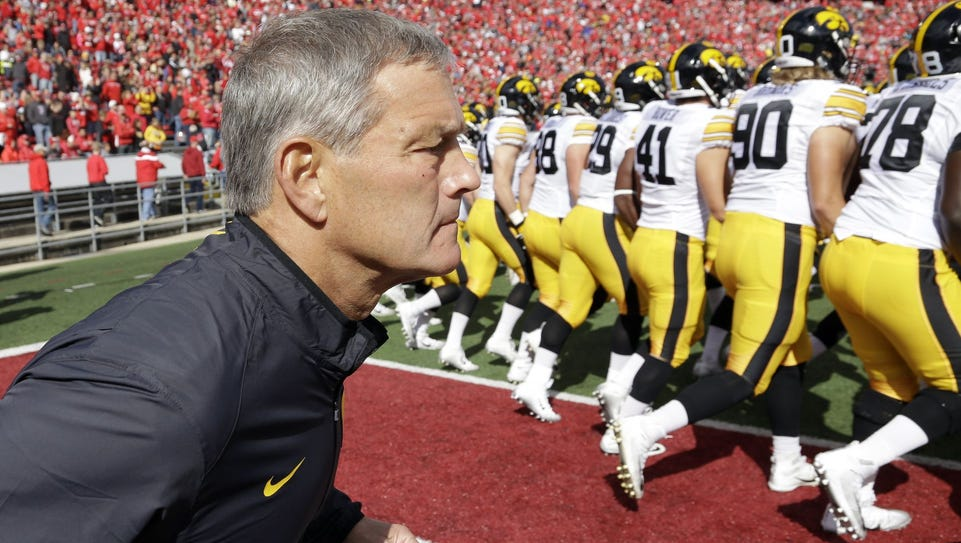 Iowa's Kirk Ferentz was named Big Ten coach of the