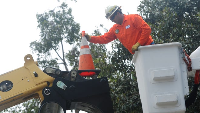 In 2018, Josh Gonzales works in a boom truck as the Ventura County Public Works Agency takes part in Public Works Week. For the second year in a row, Public Works Week will be online.