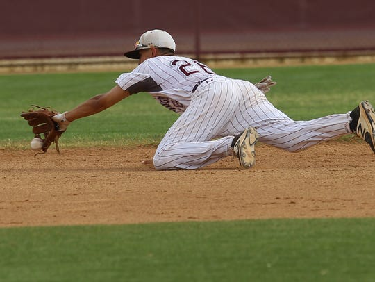Rancho Mirage High School's Ryan Rodriguez makes a