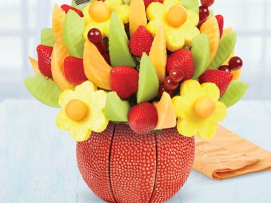 Edible Arrangements has a special basketball-themed