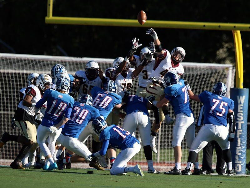 Westfield connects on an extra point against Union in the North 2 Group V semifinals on Saturday.
