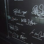 The autographs of the 2015 inductees have been added to the Rock and Roll Hall of Fame's hallowed walls.