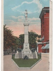 The statue of the Confederate soldier was relocated