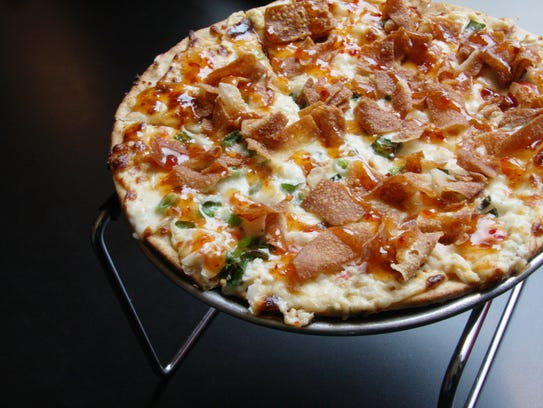 The Crab Rangoon pizza at Fong's.