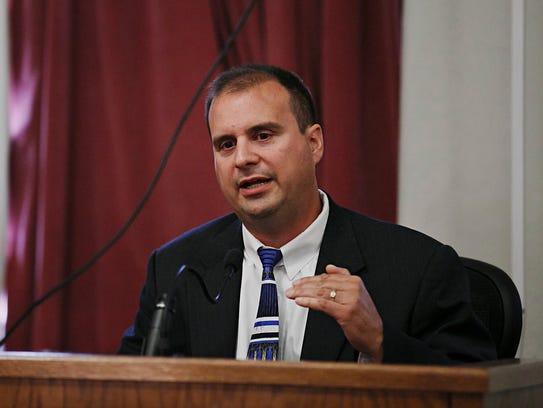 Witness Ed Stefan speaks during the trial of Eddie