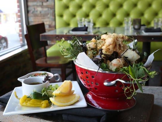 The Fritto Misto, with scallop, rock shrimp, snapper,