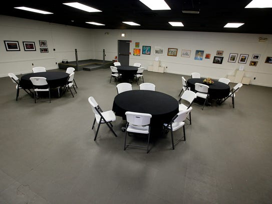 The community room and gallery section of The Community