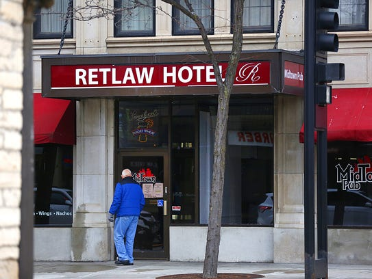 The Retlaw Plaza Hotel closed its doors on December