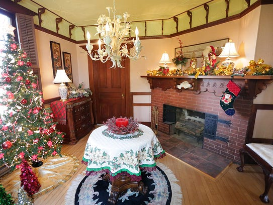 A look at the Christmas decorations inside the Galloway-Knapp