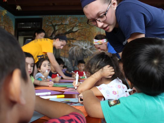 Shalom Christian Academy students help children with