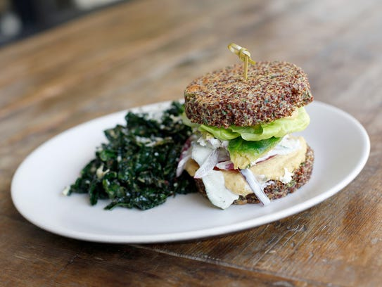 "The ""inside out"" quinoa burger at True Food Kitchen."