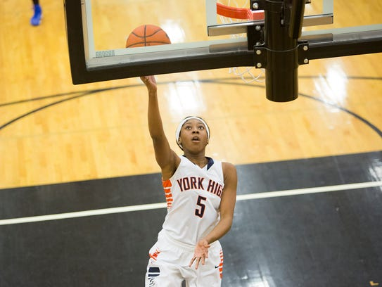 William Penn's Chyna Steele drives to the basket during