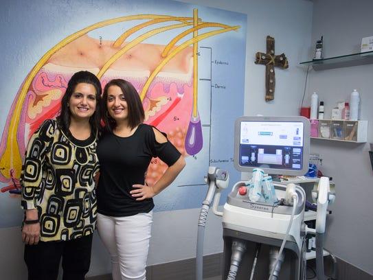 The mother daughter business pair, Maria DeNicola (left)