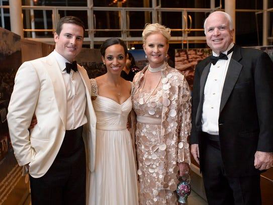 Sen. John and Cindy McCain, shown here at Jack McCain's wedding.
