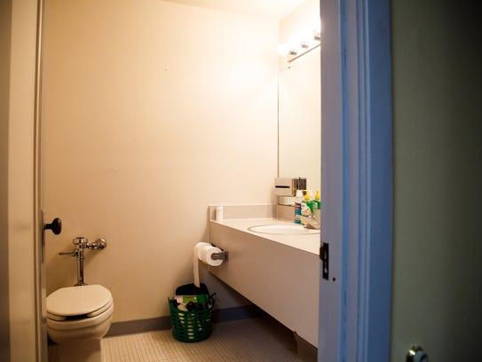 The bathroom in Alex Jacobsen's room where Program