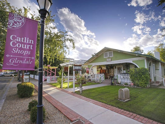 The Catlin Court area typifies Glendale's historic
