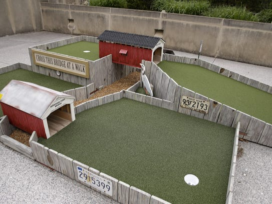 Mini Golf at the IMA, which features 18 holes designed