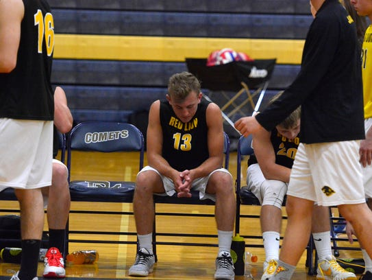 Red Lion's Dillon Hildebrand takes a moment on the