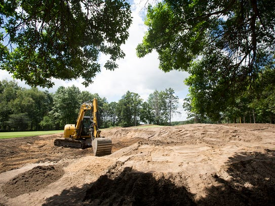 Renovations are underway on the 15th hole at the Stevens