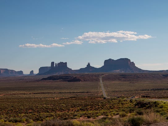 Nearly 200 miles separate Navajo Mountain from Monticello
