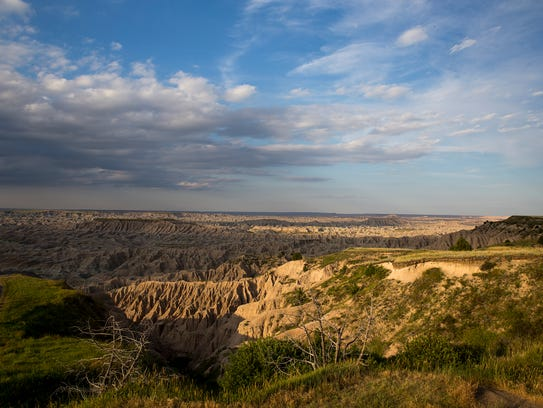 Part of the Badlands National Park crosses into the