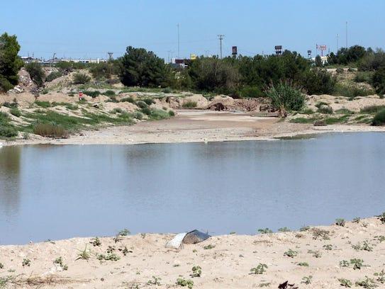 A large ponding area along Rio Vista at Thunder Road