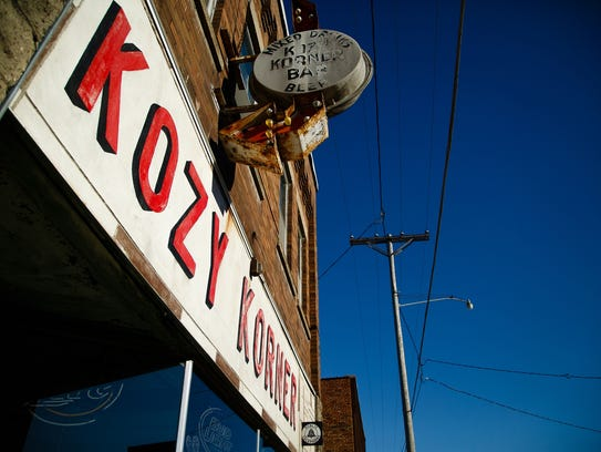 The Kozy Korner bar anchors what used to be the busy
