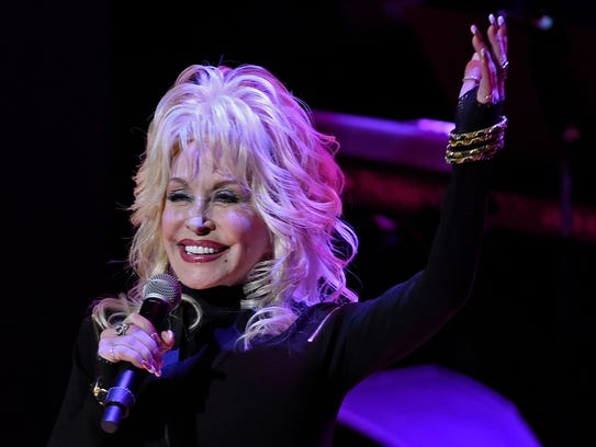 Dolly Parton performs Dumb Blond during the Country