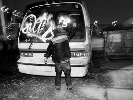 "Thomas Stoye's photograph ""Bus Tag"" (2005) is part"