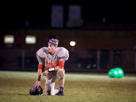 The Abbotsford varsity football team practices Tuesday,