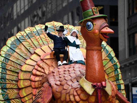 The Sandra Lee turkey float in the 90th Macy's Thanksgiving