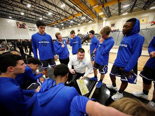 Whitefish Bay boys basketball coach  Chris Millner