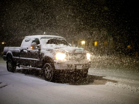 Heavy, wet snow fell and rapidly accumulated at the